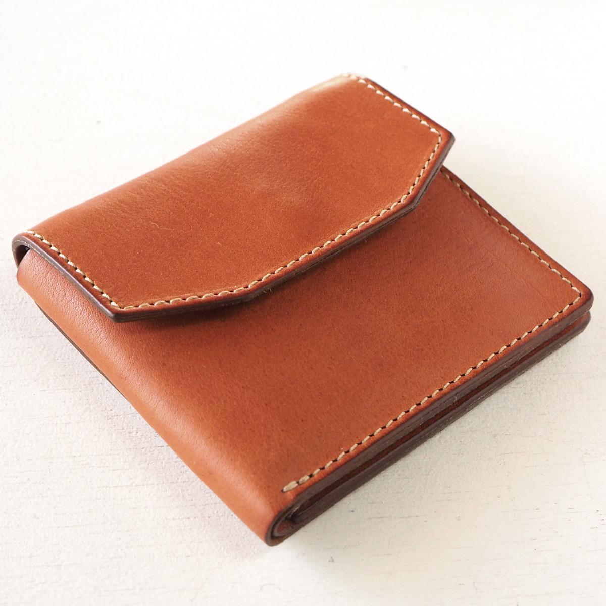 ANNAK(アナック) 栃木レザー コンパクト二つ折り ギャルソンウォレット オールレザー ベージュ[AK16TA-B0054-BEG] 2つ折り財布 レザーウォレット 革財布 革製品 革小物