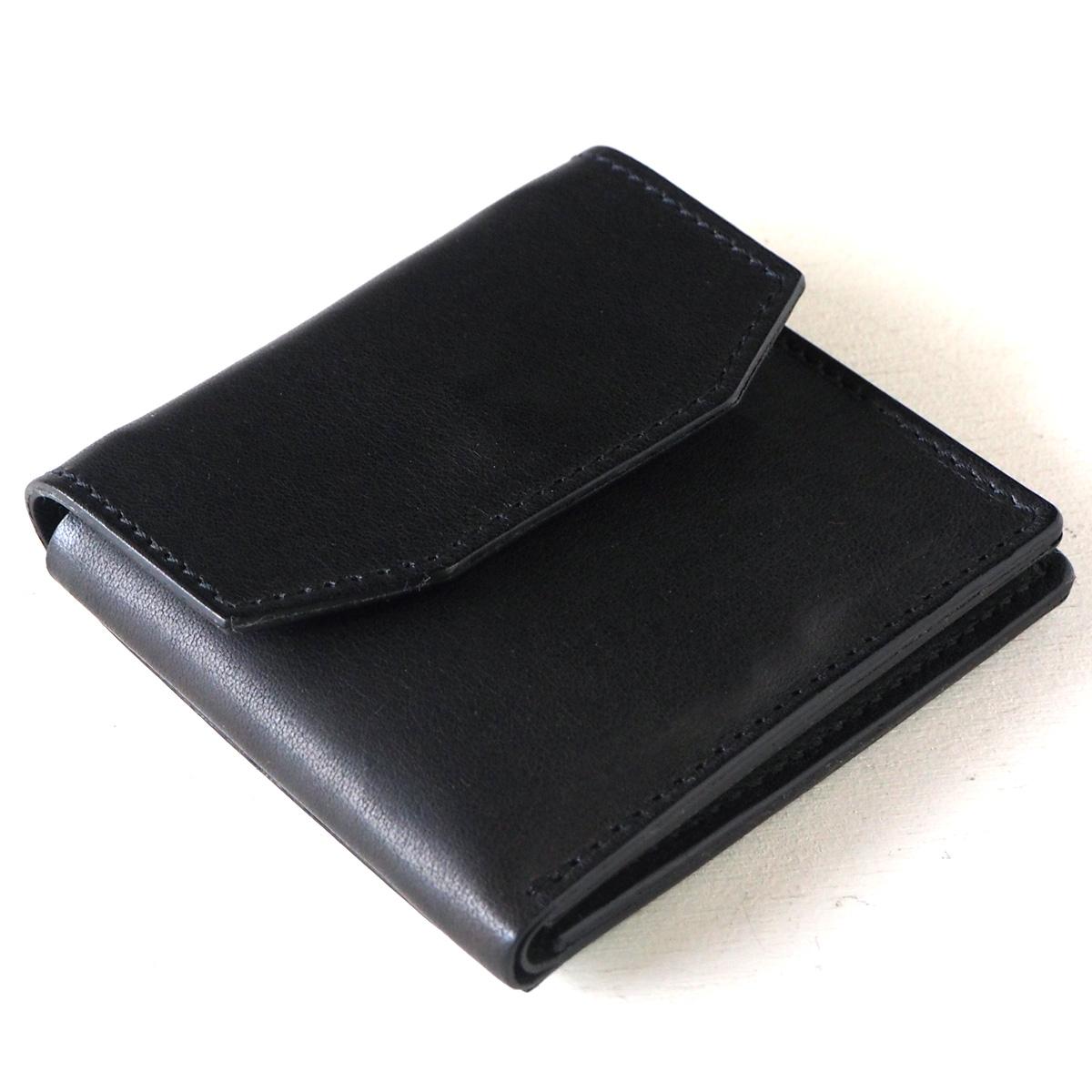 ANNAK(アナック) 栃木レザー コンパクト二つ折り ギャルソンウォレット オールレザー ブラック [AK16TA-B0054-BLK] 2つ折り財布 レザーウォレット 革財布 革製品 革小物
