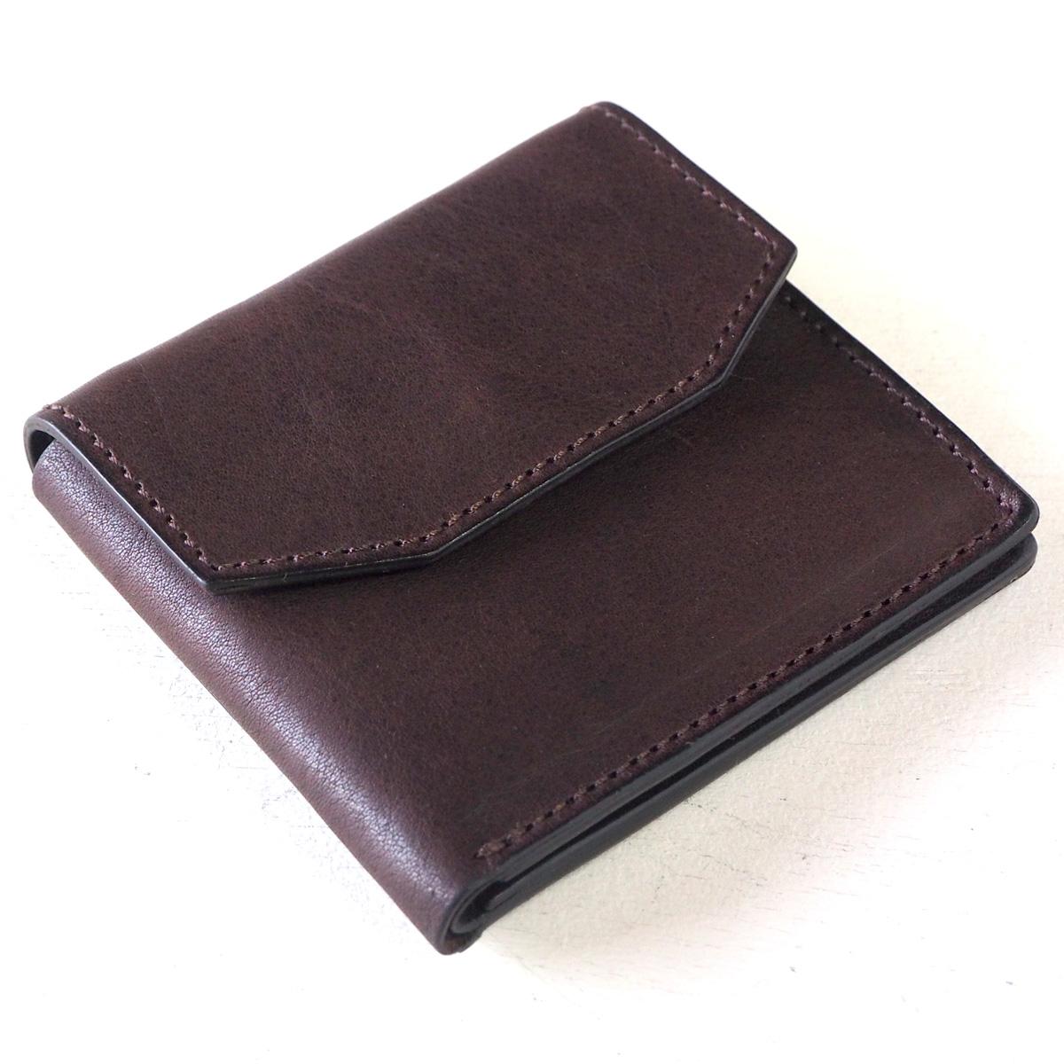 ANNAK(アナック) 栃木レザー コンパクト二つ折り ギャルソンウォレット オールレザー ダークブラウン [AK16TA-B0054-DBR] 2つ折り財布 レザーウォレット 革財布 革製品 革小物