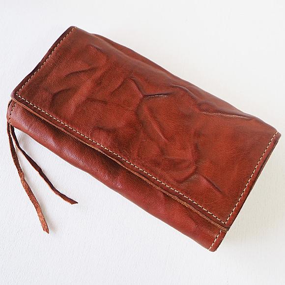 ANNAK(アナック) ウォッシュドレザー ロングウォレット ベージュ [AK17TA-B0059-BEG] レザーウォレット 革財布 革製品 革小物