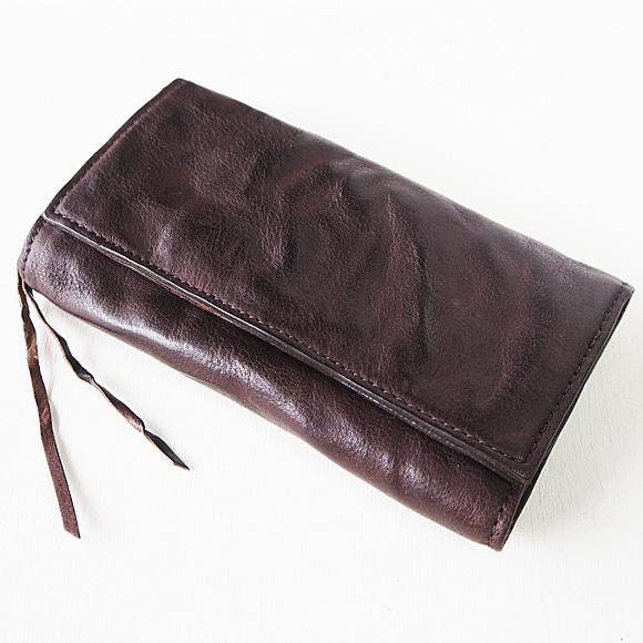 ANNAK(アナック) ウォッシュドレザー ロングウォレット ダークブラウン [AK17TA-B0059-DBR] レザーウォレット 革財布 革製品 革小物
