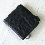 ANNAK(アナック) ウォッシュドレザーショートウォレット ブラック [AK7TA-B7002-BLK]
