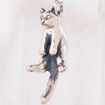 """【】銀工房AramaRoots(アラマルーツ) 猫ペンダント """"グリ"""" シルバー [AP42]"""