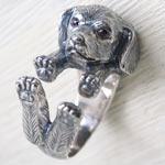 銀工房AramaRoots(アラマルーツ)犬リング ミニチュアダックスフント シルバー [AR34]