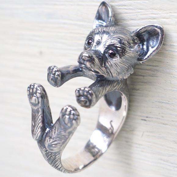 銀工房AramaRoots(アラマルーツ)犬リング チワワ  シルバー [AR36]