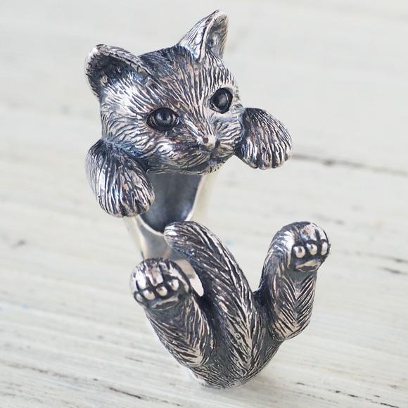 """銀工房AramaRoots(アラマルーツ)猫リング """"ラテュ"""" シルバー [AR52]"""