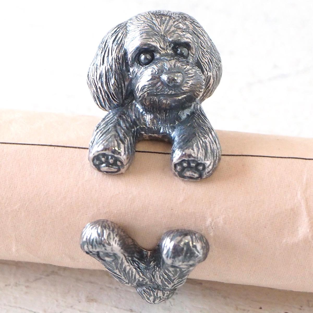 銀工房AramaRoots(アラマルーツ) 犬リング トイプードル テディベアカット シルバー [AR71]