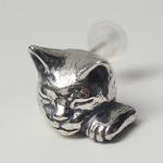 【】銀工房AramaRoots(アラマルーツ)猫ピアス エリザベス シルバー 片耳 [AY10]