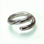 【2タイプから選べます!】銀工房AramaRoots(アラマルーツ)銀のひねりリング シルバー[GG03]