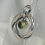 """銀工房AramaRoots(アラマルーツ) シルバーネックレス""""和柄ノ京銀""""銀ひねり「麗」 玉虫色 [KL1P]"""