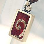 """銀工房AramaRoots(アラマルーツ) シルバーネックレス """"和柄ノ京銀""""友禅うつし 菊唐草−青桜 [KY1AS]"""
