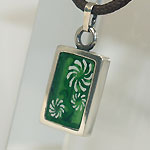 """銀工房AramaRoots(アラマルーツ) シルバーネックレス """"和柄ノ京銀""""友禅うつし 菊唐草−獅子巻毛 [KY1M]"""