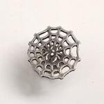 【】銀工房AramaRoots(アラマルーツ)蜘蛛の巣スタッドピアス シルバー 片耳 [NY-3]