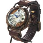 "ARKRAFT(アークラフト) 時計作家・新木秀和 手作り腕時計 ""Curtis jumbo −カーティス ジャンボ−"" ローマ数字 プレミアムストラップ [AR-C-002-RO]"