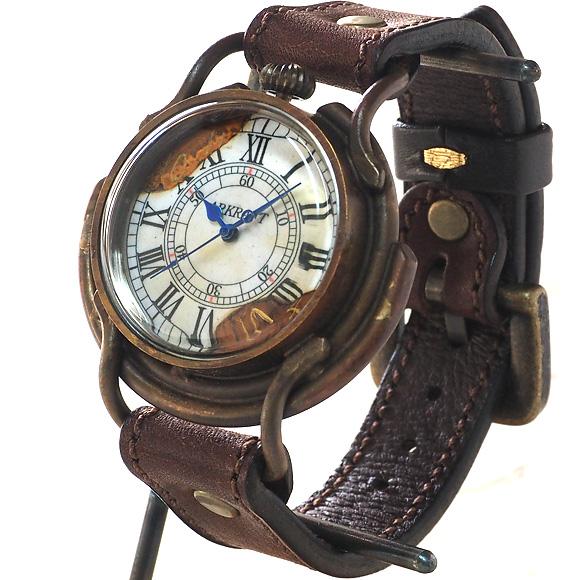 "ARKRAFT(アークラフト) 新木秀和 手作り腕時計 ""Curtis jumbo −カーティス ジャンボ−"" ローマ数字 プレミアムストラップ [AR-C-002-RO]"