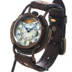 "ARKRAFT(アークラフト) 時計作家・新木秀和 手作り腕時計  ""Curtis jumbo −カーティス ジャンボ−"" 大字 プレミアムストラップ [AR-C-002-WA]"