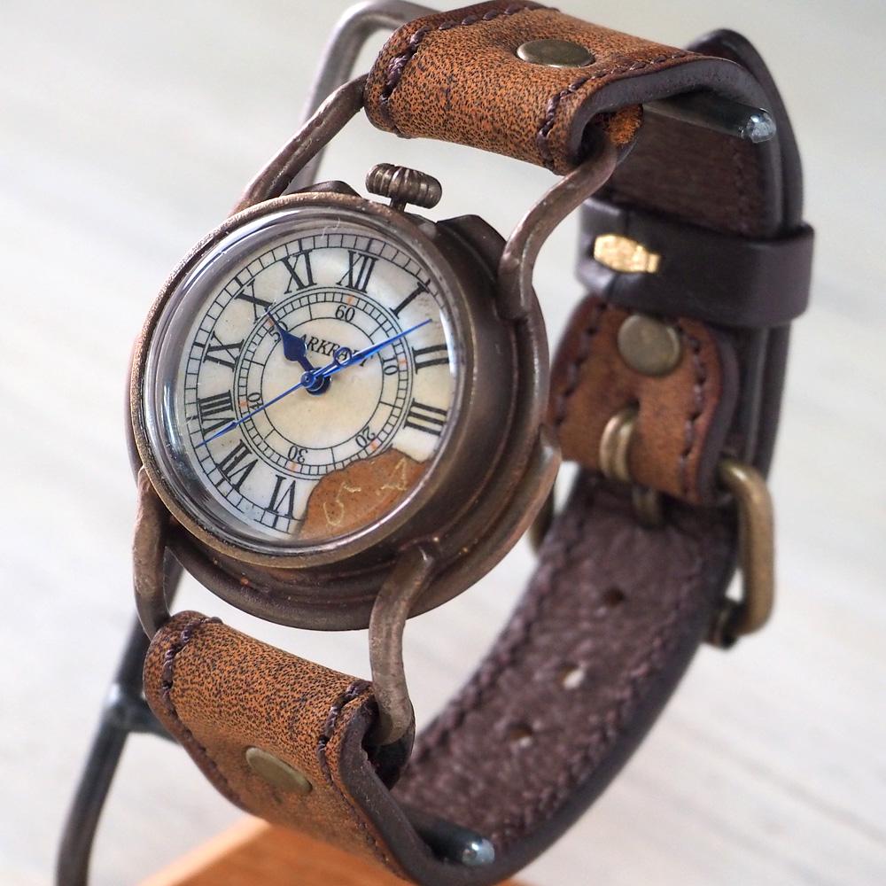"""ARKRAFT(アークラフト) 時計作家・新木秀和 手作り腕時計 """"Curtis Men's −カーティス メンズ−"""" ローマ数字 プレミアムストラップ [AR-C-003-RO]"""