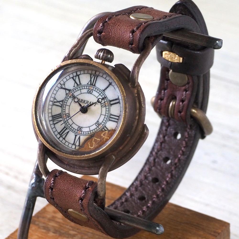 """ARKRAFT(アークラフト) 時計作家・新木秀和 手作り腕時計 """"Curtis Boys' −カーティス ボーイズ−"""" レディースサイズ ローマ数字 プレミアムストラップ [AR-C-004-RO]"""