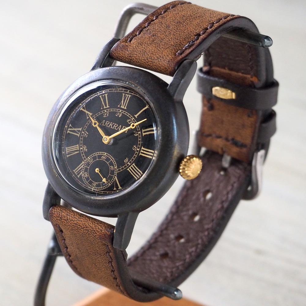 """ARKRAFT(アークラフト) 時計作家・新木秀和 手作り腕時計 """"Hathaway"""" ローマ数字 プレミアムストラップ [AR-C-005-RO]"""