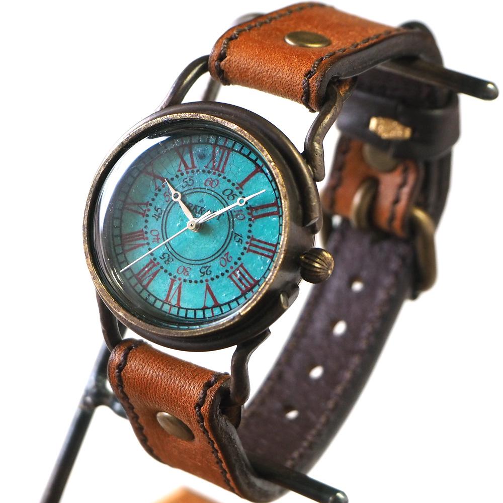 "ARKRAFT(アークラフト) 時計作家・新木秀和 手作り腕時計 ""Addy Medium"" ローマ数字 プレミアムストラップ [AR-C-009-RO]"