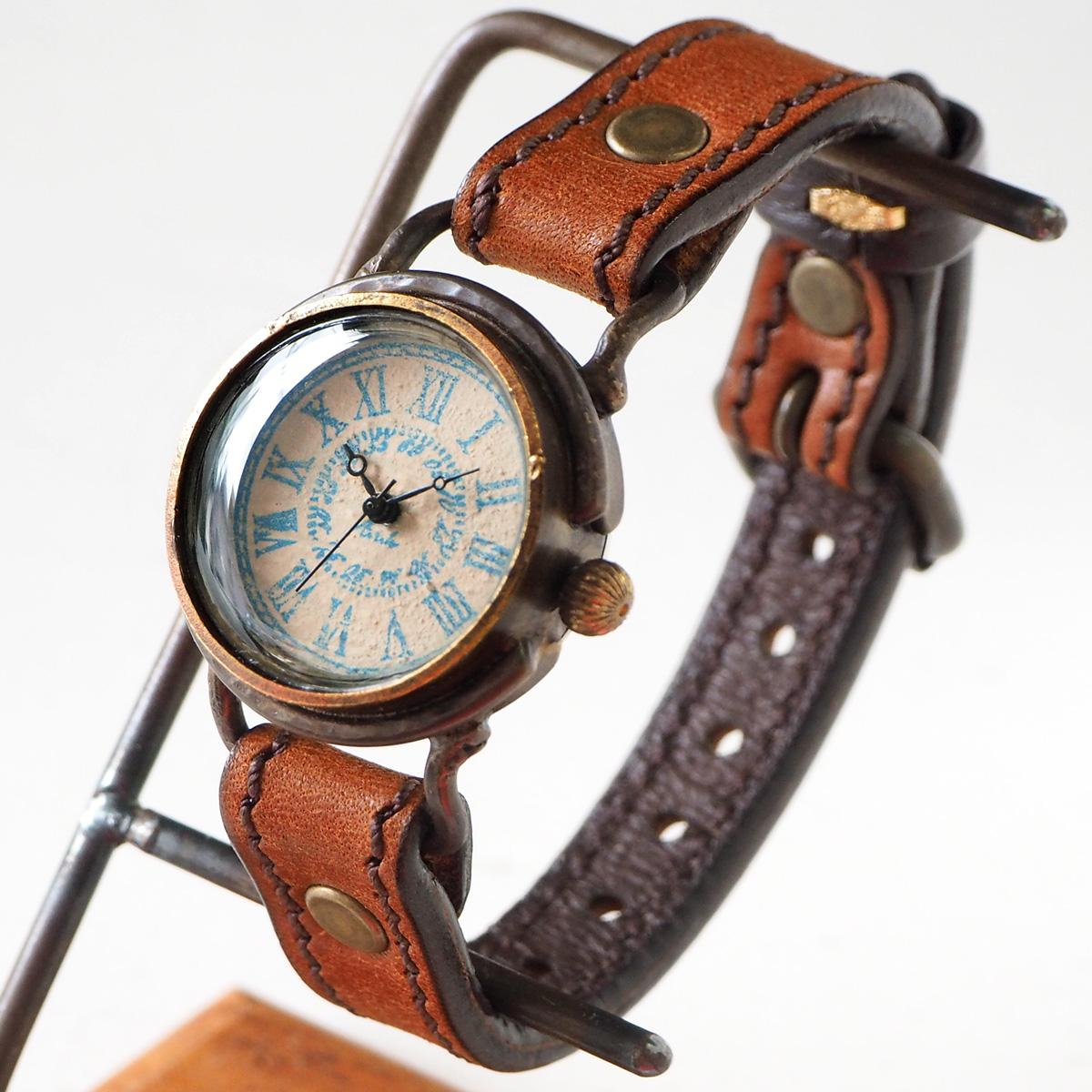"""ARKRAFT(アークラフト) 時計作家・新木秀和 手作り腕時計 """"Marvin Small"""" ローマ数字 プレミアムストラップ [AR-C-011-RO]"""