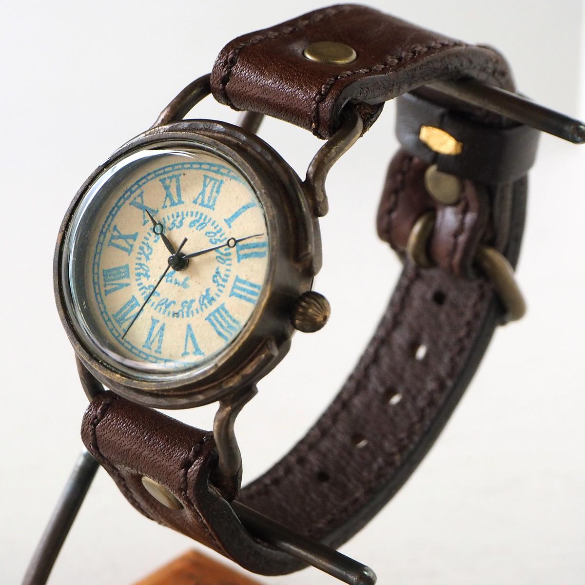 "ARKRAFT(アークラフト) 時計作家・新木秀和 手作り腕時計 ""Marvin Medium"" ローマ数字 プレミアムストラップ [AR-C-012-RO]"