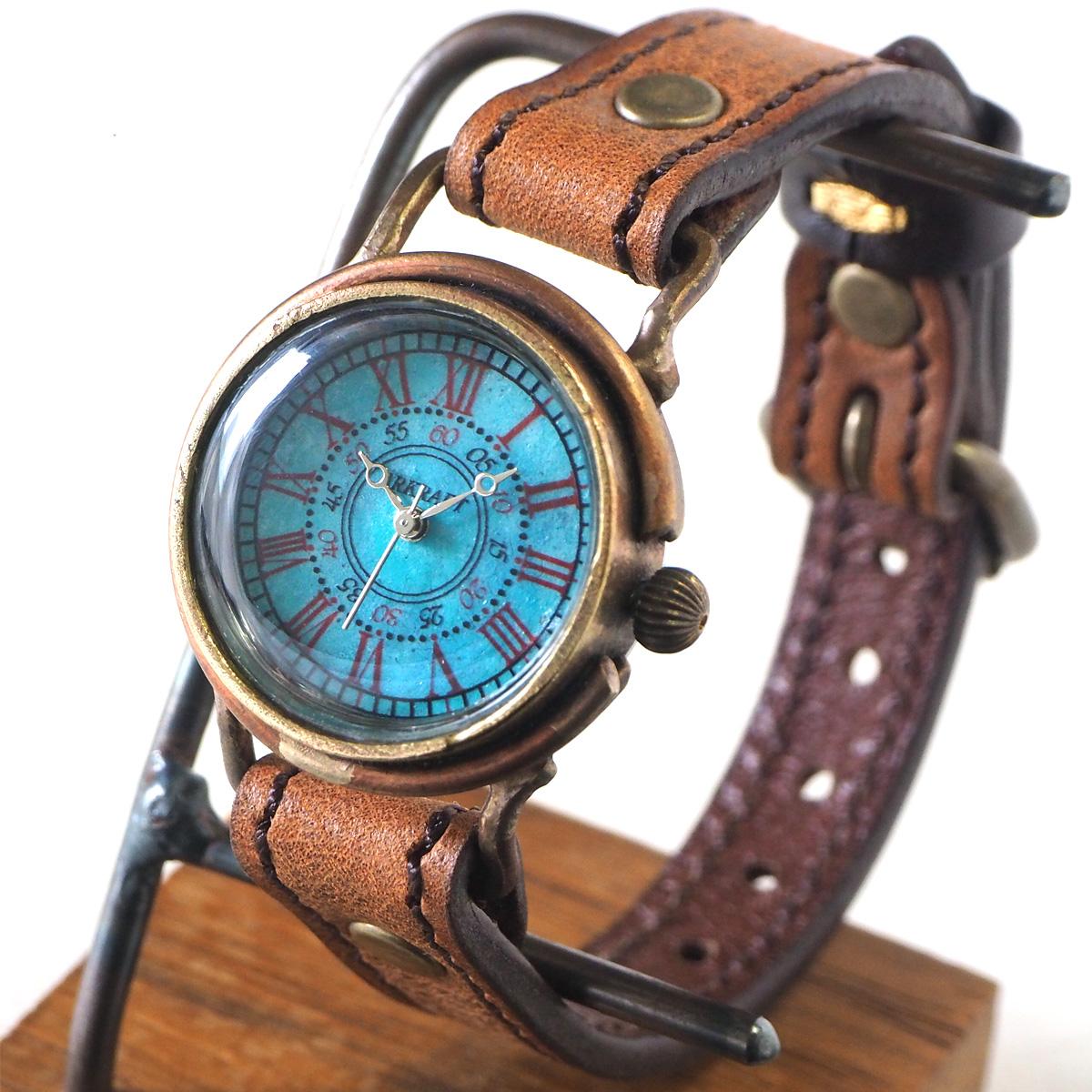 """ARKRAFT(アークラフト) 時計作家・新木秀和 手作り腕時計 """"Addy Small"""" ローマ数字 プレミアムストラップ [AR-C-017-RO]"""