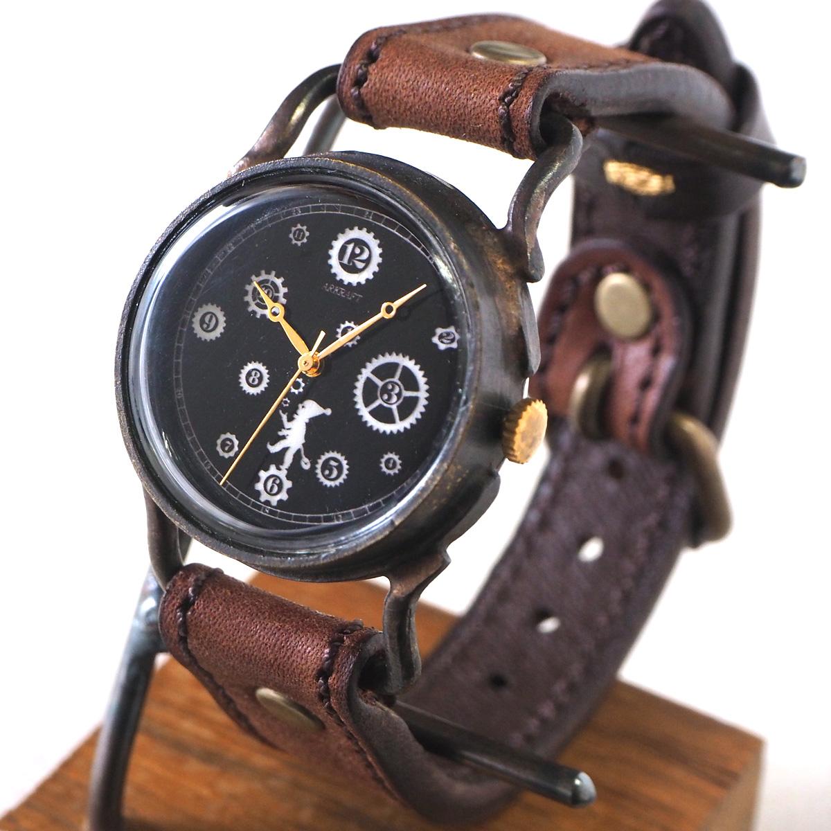 """ARKRAFT(アークラフト) 時計作家・新木秀和 手作り腕時計 """"Pivo small"""" ホワイトシェル文字盤 プレミアムストラップ [AR-C-013-WH]"""