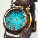 "ARKRAFT(アークラフト) 時計作家・新木秀和 手作り腕時計 ""PATRICE OCEAN −パトリス オーシャン−"" プレミアムストラップ [AR-C-001]"
