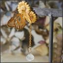 銀工房AramaRoots(アラマルーツ) Paradis(パラディ)ピアス 真鍮 18金マットゴールドメッキ 片耳 [AY18]
