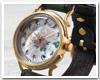 ペアウォッチとしてもおすすめ…達磨(だるま) ちきりやコラボレーション 手創り腕時計 「牡丹兎」 螺鈿(らでん)文字盤 グラデーション ぼかし染めベルト
