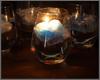 グラスとセット。水に浮かべて幻想的な光を楽しむキャンドル、入荷しました。秋の夜長のお供にどうぞ。