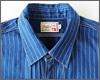 """色を抜くことで表現したドットストライプ""""ウォバッシュ""""のカジュアルなインディゴシャツ登場。個性的なポケットデザインにも注目!"""