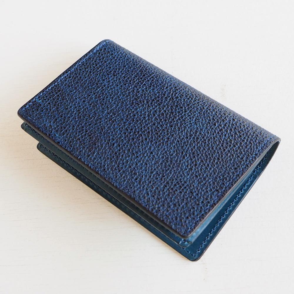 COTOCUL(コトカル) 名刺入れ 黒桟革(くろざんがわ) 藍染め [KCM0002-AI]