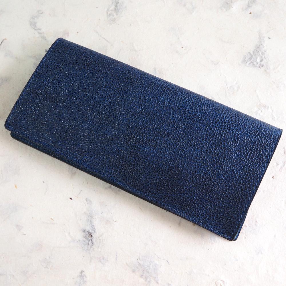 COTOCUL(コトカル) 長財布 黒桟革(くろざんがわ) 藍染め [KCW0002-AI]
