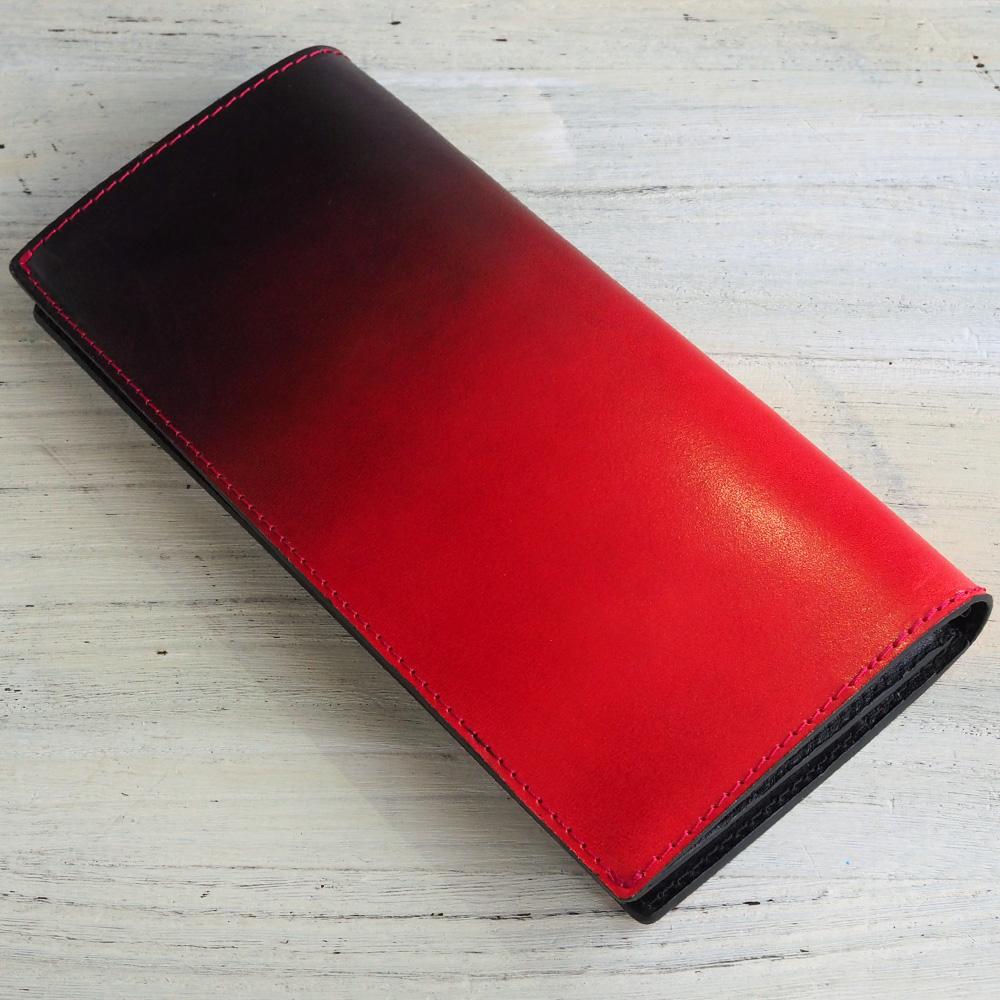 COTOCUL(コトカル) 長財布 ぼかし染め ブルー×ブラック [KCW0005-BL]