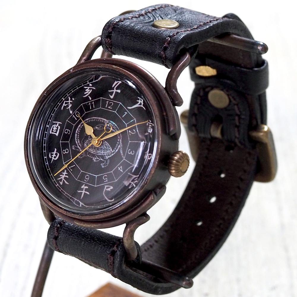 達磨(だるま)手創り腕時計 「玄武」 螺鈿(らでん)文字盤 [DW0002-04]