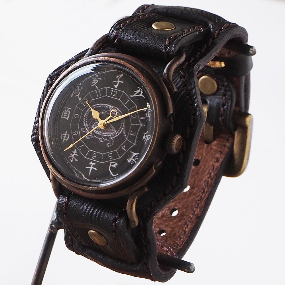 達磨(だるま)手創り腕時計 「玄武」 螺鈿(らでん)文字盤 [DW0002-05]