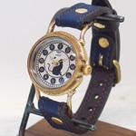 達磨(だるま)手創り腕時計「本藍」レディース [DWL0001-01]