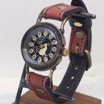 達磨(だるま)手創り腕時計「柿渋」レディース [DWL0001-02]