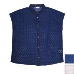 DEEP BLUE(ディープブルー) マーガレットレース クレリックシャツ [72116]
