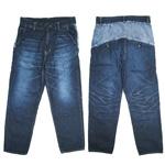 【送料無料!】DEEP BLUE(ディープブルー)8オンス綿麻デニム バイカラーアンクル丈パンツ [72123]