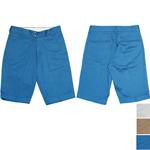 DEEP BLUE(ディープブルー) スーピマコットン リネン ライトチノ ストレッチ ハーフ丈 センタープレス トラウザーパンツ [72129]