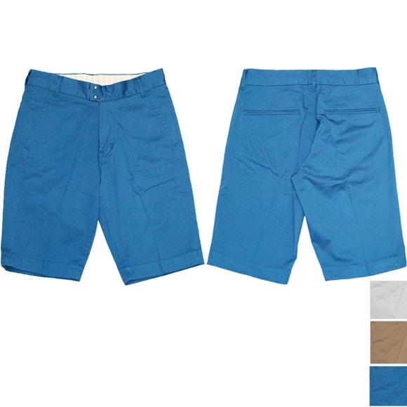 DEEP BLUE(ディープブルー)スーピマコットン リネン ライトチノ ストレッチ ハーフ丈 センタープレス トラウザーパンツ  [72129]