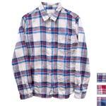 【30%OFF!】DEEP BLUE(ディープブルー) ヘリンボンチェック柄 長袖シャツ [72333]