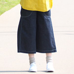 DEEP BLUE(ディープブルー) ネップデニム ガーデニングパンツ ワンウォッシュ ひざ下丈 [72687-WO]