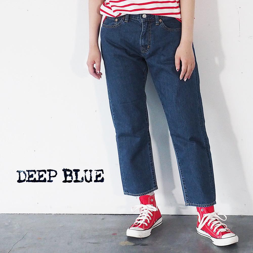 DEEP BLUE(ディープブルー) 10.5オンス ボーイフレンドデニム アンクル丈 ナチュラルブルー [72895-2]