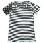 DEEP BLUE(ディープブルー) 40/2ガーゼ天竺 クルーネックボーダー半袖Tシャツ [73664]