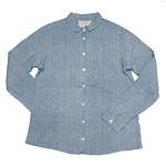 【30%OFF!!】DEEP BLUE(ディープブルー)カディ 手つむぎ・手織り長袖シャツ[73792]