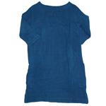 【30%OFF!】DEEP BLUE(ディープブルー) DEEP BLUE(ディープブルー) ライトカディ 手つむぎ・手織り 刺繍柄 7分袖プルオーバーワンピース [73797]